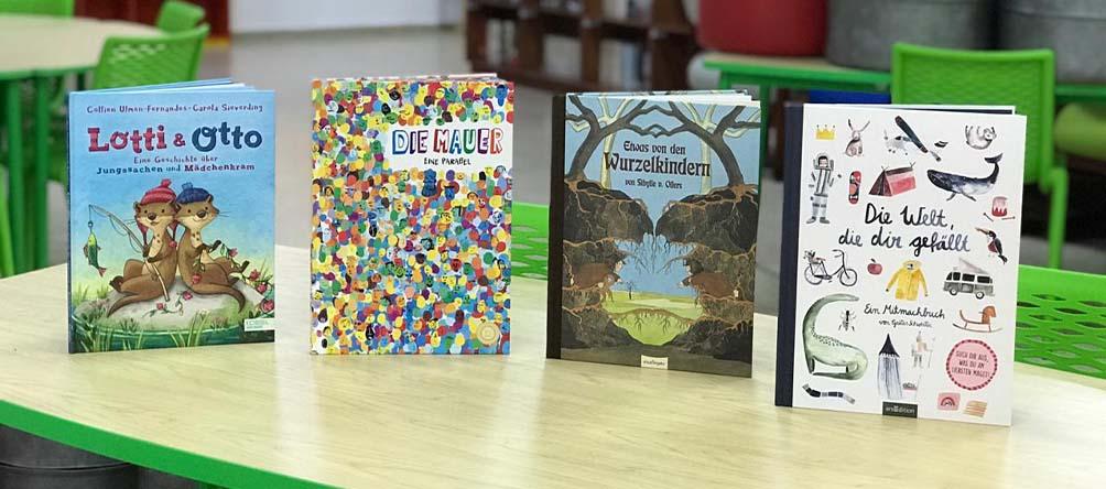 Nuestra biblioteca recibió dotación de nuevos libros en alemán