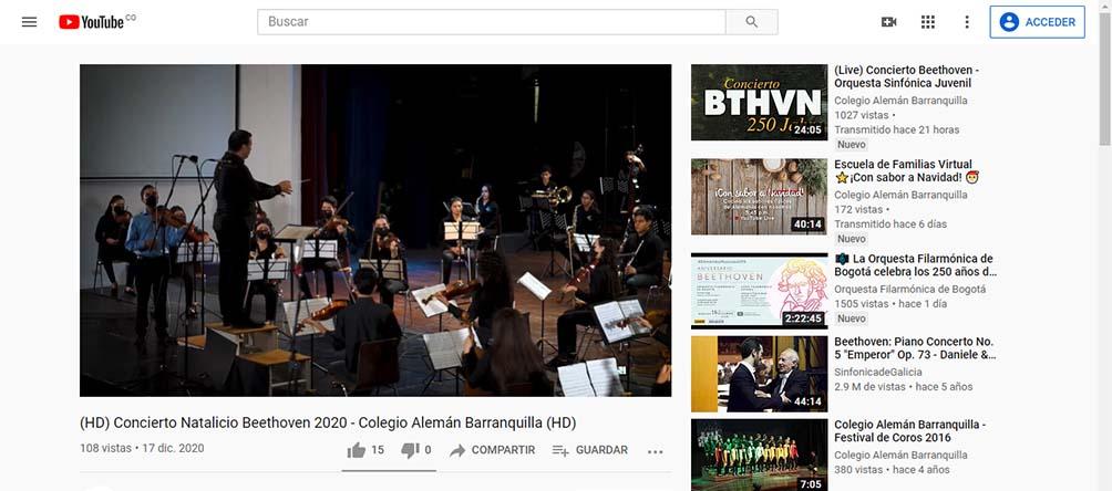 Con el concierto 'Beethoven 250 Jahre' nuestro colegio le rindió tributo al compositor alemán