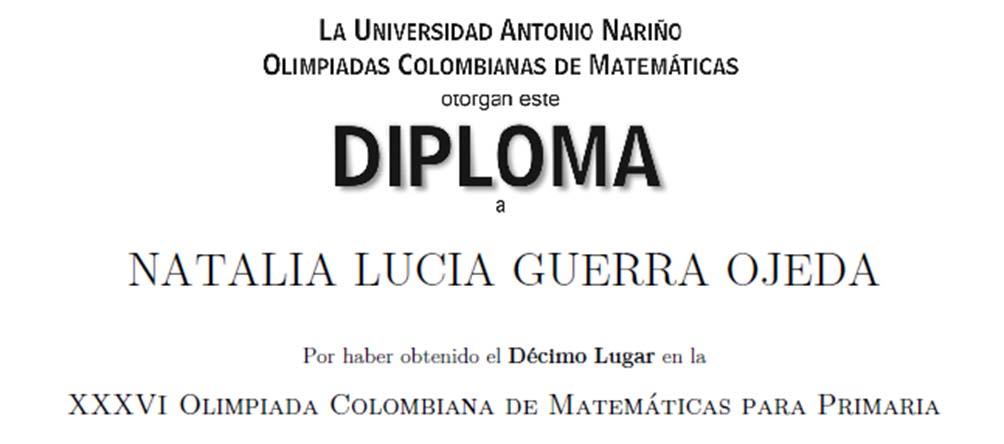 Culminó la participación de nuestros estudiantes en la Olimpiada Colombiana de Matemáticas de Primaria