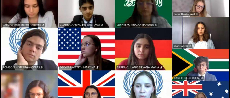 Estudiantes de nuestro colegio se destacaron durante el VIII DESMUN del Colegio Andino