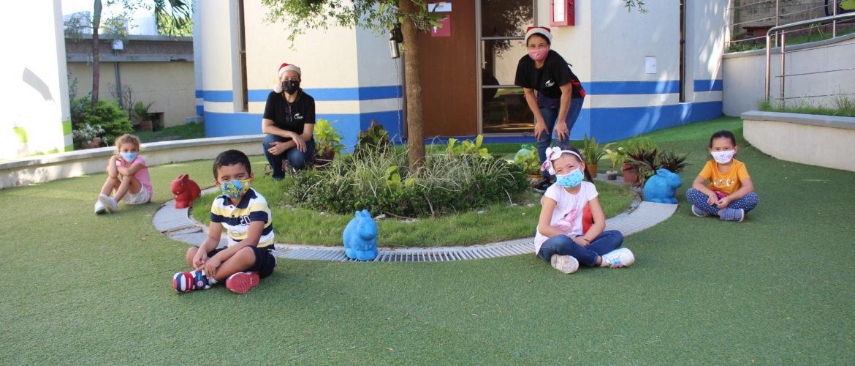 Nuestros niños de Kindergarten expresaron mucha alegría y emoción en su retorno al colegio