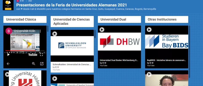 Colegios alemanes de Suramérica realizaron la Feria de Universidades