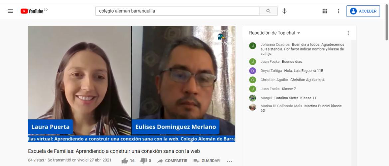 'Aprendiendo a construir una conexión sana con la web', tema analizado en la Escuela de Familias