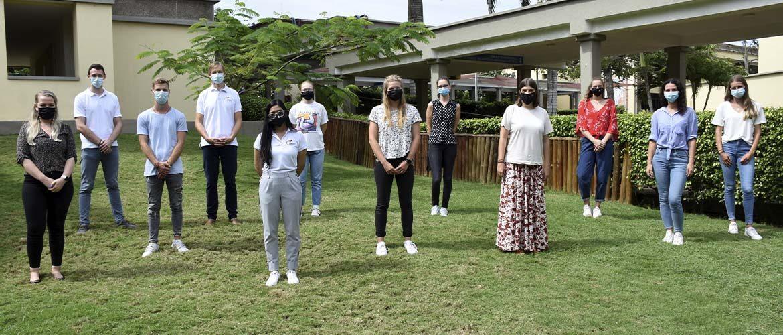 Un grupo de jóvenes alemanes realizan sus prácticas universitarias en nuestro colegio
