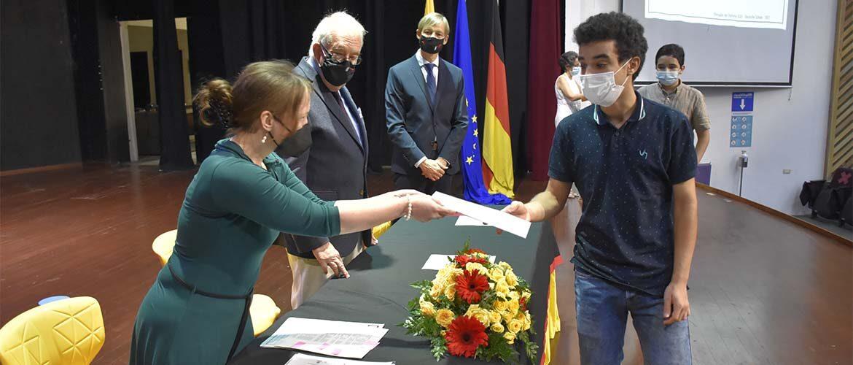 Estudiantes de las Klassen 9 y 10 recibieron los certificados del DSD I